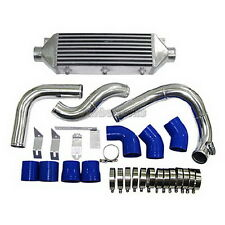 CXRacing Front Mount Intercooler kit bolt on For 05-08 Audi A4 B7 2.0T Blue