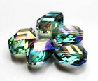 13X18mm Faceted polygon hexagon Glass Crystal Loose Spacer Beads 5pcs
