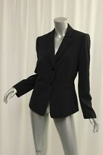TAHARI Navy/White Pinstriped Button Up Womens Suit Jacket 10