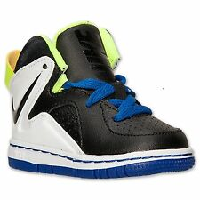 Baby Boys Shoes Nike COURT INVADER BASKETBALL Toddler Size 4 Black/White/Blue