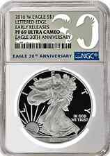 2016 W American Silver Eagle Proof 30th Anniv. NGC PF69 UC Early Rel. Presale