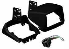 Double Din Dash kit Fascia Fiat Doblo Color Black