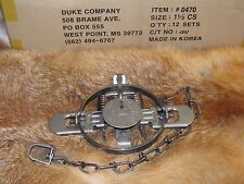 1 New Duke # 1 1/2 Coil Spring Traps  Raccoon Fox Mink Nutria Trapping