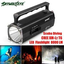 8000LM CREE XM-L2 T6 LED Scuba Diving Underwater Taschenlampen Torch Wasserdicht