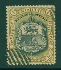 [JSC] 1899 NORTH BORNEO ~COAT OF ARMS #SC92 A41 BRN & BLACK