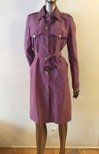 NWOT BURBERRY London authentic purple rain trench coat size US6 SEE DESCRIPTION