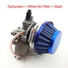 Carb Carburetor Air Filter Stack For 47cc 49cc Mini Dirt Pocket Bike ATV Go Kart