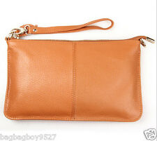 Women's Soft Real Leather Handbag Lady's Clutch Purse Crossbody Bag Wallets