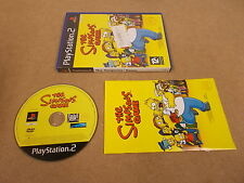 PS2 Playstation 2 Pal Game THE SIMPSONS GAME with Box Instructions