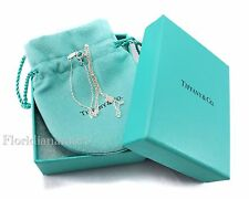 New Tiffany & Co Sterling Silver Necklace chain 18 inch with box, pouch & Ribbon