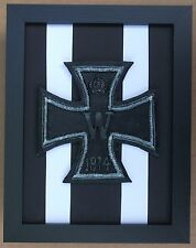 Large Scale Framed IRON CROSS Medal WWI & WWII Plaque Model