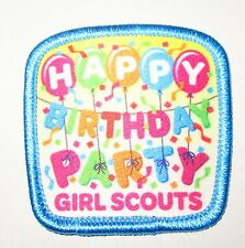 """New Girl Scout Fun Patch """"Happy Birthday Party"""""""