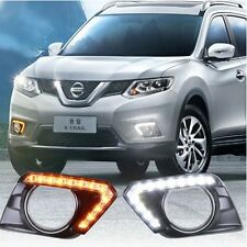 2x LED Daytime Running Fog Lights Lamp DRL For Nissan Rogue X-Trail 2014-2016