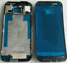 LCD marco Bezel frame carcasa cáscara cover housing display gris para HTC One m8