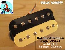 G.M. Hot Shred Platinum Bridge Pickup Zebra (52mm) (4-wire)
