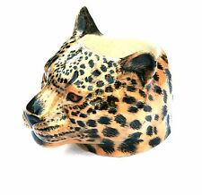 Leopard Wild Cat  China Collectable Face Egg Cup by Quail Pottery Gift Boxed