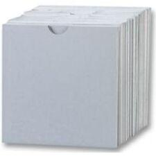 100 CD Cartone Copertine Con Pratica Apertura / Portafoglio Bianco - 100 pz.