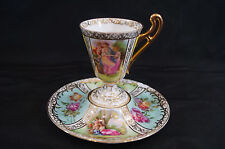 Josef Riedl Royal Vienna Style Quartrefoil Cabinet Cup & Saucer C. 1890 - 1910
