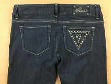 GUESS Womens Stretch Bootcut Question Mark Rivit Jeans Tag 27 Actual 29x33
