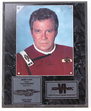 1991 Star Trek William Shatner as Captain James T. Kirk Autographed Plaque