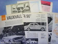QUATTROR962-PROVA SU STRADA/ROAD TEST-1962- VAUXHALL 4/90 - 9 fogli