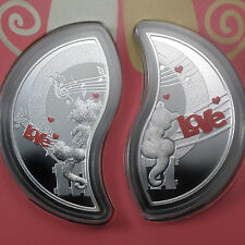 Niue 2013 Proof Silver $1 In Love - Set of 2 Coins