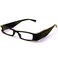 +5.0 Diopter Eschenbach LightSpecs LED Lighted Reading Glasses - Black - Liberty