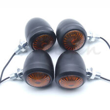 4x  Motorcycle Turn Signal Indicator Light Lamp Bulb Metal For Harley Cafe Racer
