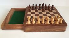Magnetic Wooden Chess Set Storage Square Portable Top Quality Board Games 7''