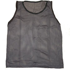 WORKOUTZ ADULT SCRIMMAGE VESTS (12 QTY, DARK GRAY ) SOCCER PINNIES FOOTBALL