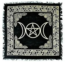 """18"""" x 18"""" Triple Moon Goddess Pentacle Pagan Wiccan Witch Altar Cloth!"""