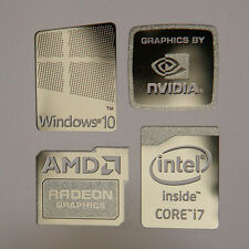 Windows 10 Combo Badge Metal Sticker, PC/Laptop Intel Core i7/AMD/Nvidia USA