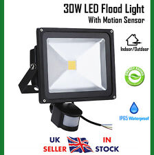 30W Cool White LED Floodlight Motion Sensor Outdoor Security Flood Light IP65