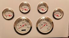 Classic 6 Gauge Set Electrical Speedometer Street Hot Rod Chevy Ford Chrysler