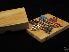 Chinese Checkers 5.2 x 4.53 wooden travel board game
