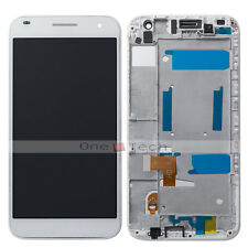Huawei Ascend G7 White LCD Screen Display Touch Digitizer Assembly+Front Frame