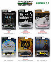 HOLLYWOOD SERIES / RELEASE 14, SET OF 6 CARS 1/64 DIECAST BY GREENLIGHT 44740