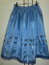 50er Jahre Petticoat Trachten Unterrock BLAU MEERTÖNE Dirndl 70 cm 34 bis 46 Neu