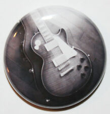 "1"" (25mm) Black & White Les Paul Guitar Button Badge Pin - Musical-High Quality"