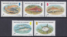 Guernsey 1985 Fish Set UM SG332-6 Cat £3.25
