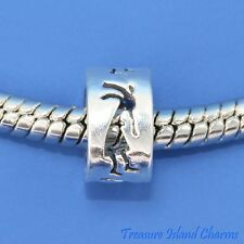 KOKOPELLI .925 Solid Sterling Silver EUROPEAN EURO Spacer Bead Charm