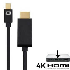 Apple MAC MINI PC Mini DisplayPort (DP) a HDMI TV/Monitor Cavo Di Piombo 4k-Nero