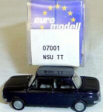 NSU TT PKW  schwarz  IMU/EUROMODELL 07001  H0 1/87 OVP #LL 1    å