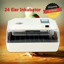 Chicken Hatcher Brooder Poultry 24 Egg Incubator + LED Torch Water Refill Bottle