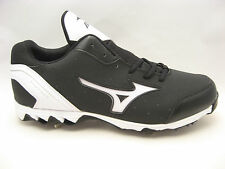 Metal Baseball Cleats Size 14 Mizuno Mens 9 Spike Vintage Switch Black White NEW