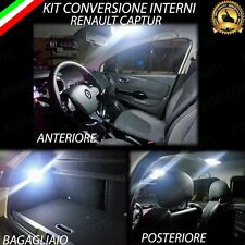 KIT FULL LED INTERNI RENAULT CAPTUR CONVERSIONE COMPLETA A LED CANBUS 6000K