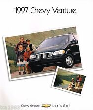 1997 Chevy VENTURE MiniVan Brochure / Catalog with Color Chart: LS, Mini Van