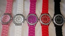 Job lot 20 pcs Rubber Silicone Diamante gel Watches new wholesale - lot J