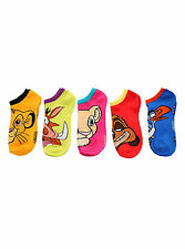NEW Disney The Lion King Movie character face Mix Match 5PR NO SHOW Socks 9-11