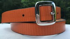 Orange Belt Banana Republic Italian Leather size M silver tone buckle